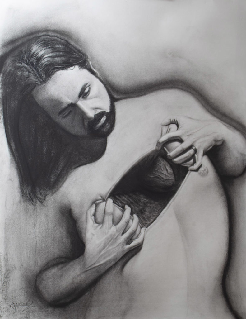 "</br><p align=""left""><strong><em>Exposure</em></strong></br> 24 x 18""</br> Charcoal and pastel on charcoal paper</br> $300</br> <strong><a href=""https://checkout.square.site/buy/LIDUMF52YWPACPBHY5OUH2BB"">PURCHASE</a></strong></p><br>"