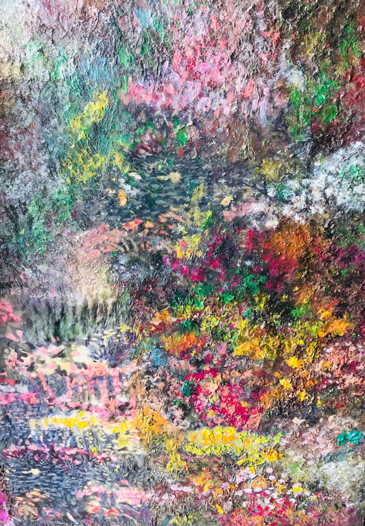 "</br><p align=""left""><strong><em>Dawes Arboretum</em></strong></br>33 x 25""</br>Mixed media</br>$375</br><strong>SOLD</strong></p><br>"