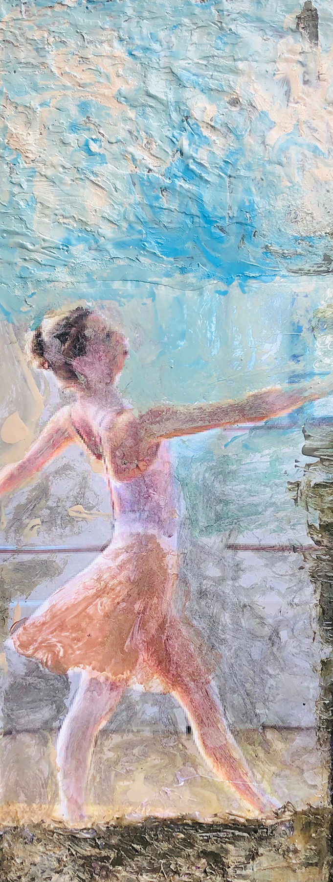 """</br><p align=""""left""""><strong><em>Barre</em></strong></br>22 x 10""""</br>Mixed media</br>$125</br><strong><a href=""""https://checkout.square.site/buy/5Y5IGCK5AEUJ4REC2W66RYIA"""">PURCHASE</a></strong></p><br>"""