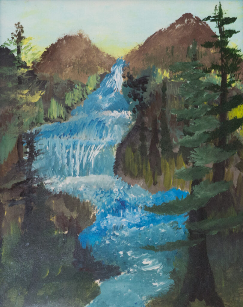 """<p align=""""left""""><strong><em>Waterfall 01</em></strong></br>22 x 18""""</br>Acrylic on paper</br>$125</br><strong><a href=""""https://checkout.square.site/buy/LQSKQXC4MNFY26WJ7AJPYPLX"""">PURCHASE</a></strong></p>"""