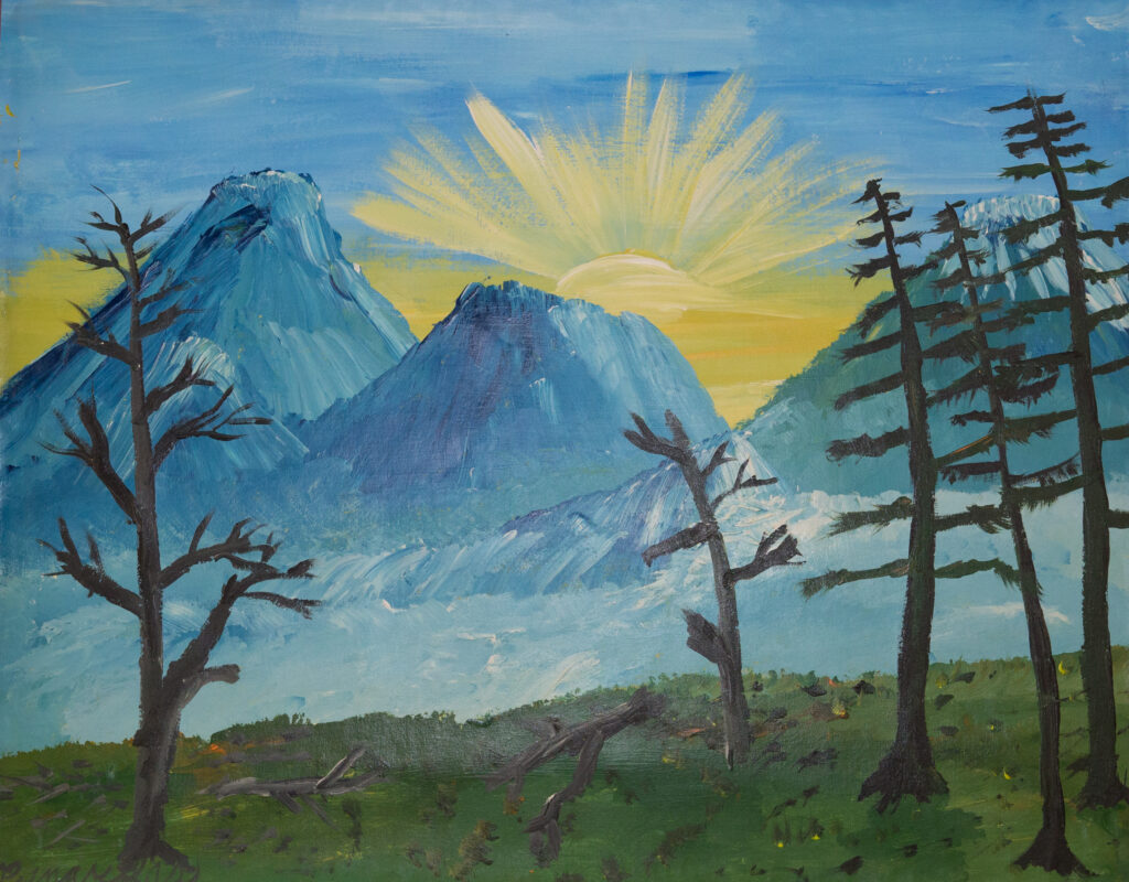 """<p align=""""left""""><strong><em>Mountainscape 03</em></strong></br>22 x 28""""</br>Acrylic on paper</br>$150</br><strong><a href=""""https://checkout.square.site/buy/QTVFOFY4N2PVAVOJHBUDZYBT"""">PURCHASE</a></strong></p>"""