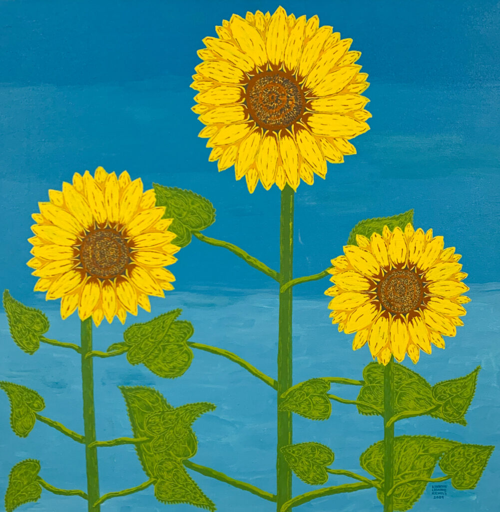 "<p align=""left""><strong><em>Yellow Sunflowers</em></strong></br>30 x 30""</br>Acrylic</br>$300</br><strong><a href=""https://checkout.square.site/buy/TNT4N22UBPEO4ZHO6R2Q3CZO"">PURCHASE</a></strong></br>"