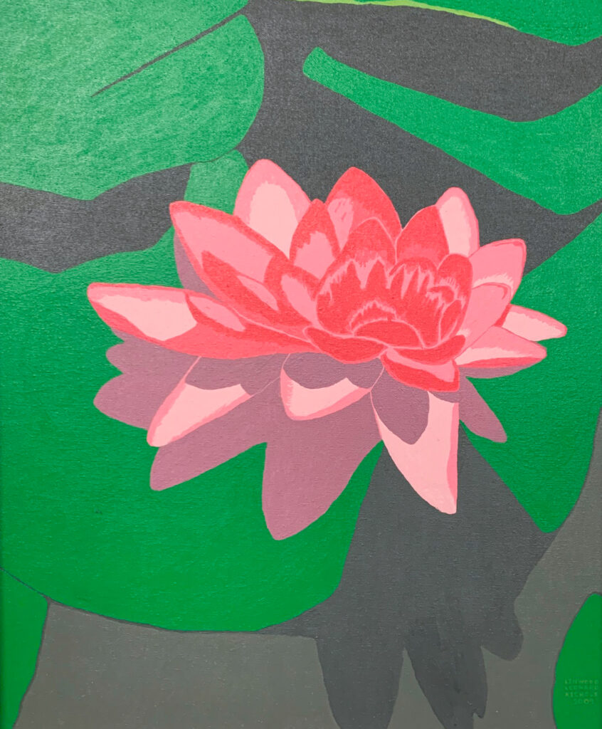 """<p align=""""left""""><strong><em>Pink Lotus</em></strong></br>24 x 20""""</br>Acrylic</br>$275</br><strong><a href=""""https://checkout.square.site/buy/V3W2CAQKXB2FAWPUOI5CPFAA"""">PURCHASE</a></strong></br>"""