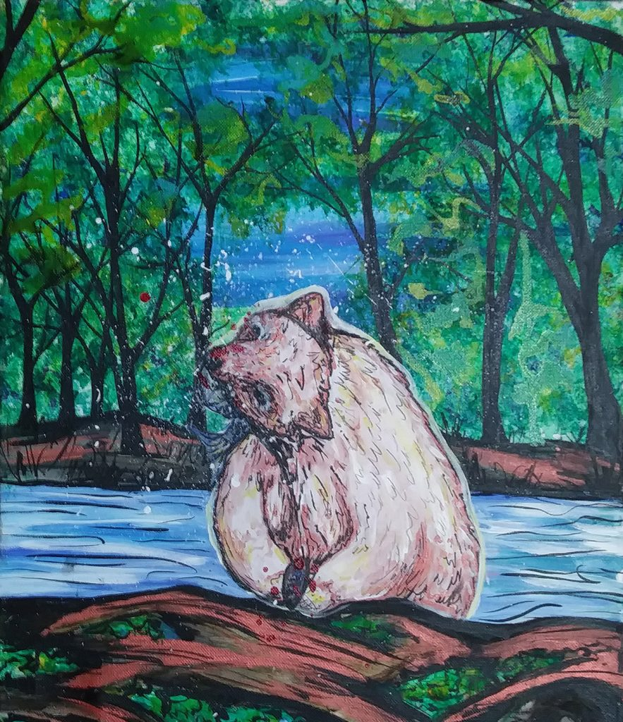 """<p align=""""left""""><strong><em>Spirit Bear</em></strong></br>10 x 8""""</br>Digital print</br>$35</br><strong><a href=""""https://checkout.square.site/merchant/NQX1GCJY9CN1F/checkout/MYTPGXEZLN77KEJYRQSWTPXI"""">PURCHASE</a></strong></br>"""
