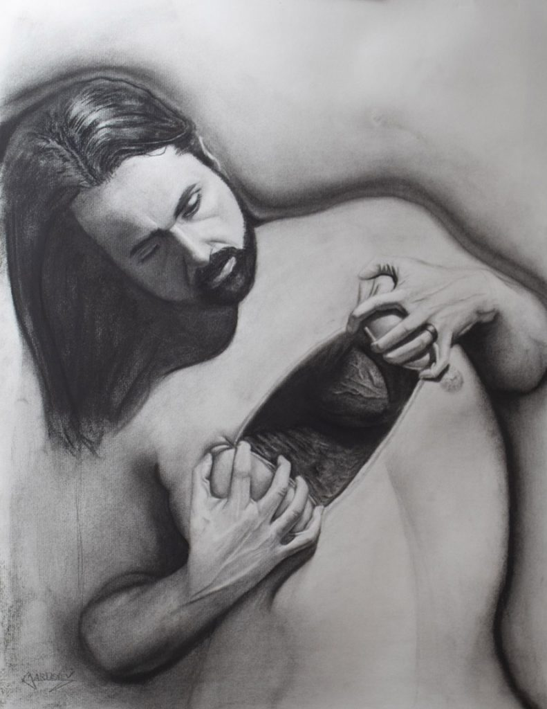 """<p align=""""left""""><strong><em>Exposure</em></strong></br>24 x 18""""</br>Charcoal and pastel on charcoal paper</br>$300</br><strong><a href=""""https://checkout.square.site/buy/LIDUMF52YWPACPBHY5OUH2BB"""">PURCHASE</a></strong>"""